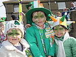 Reece Russell, Eimear Murtagh and Amanda McGuinness pictured at the Drogheda St. Patrick's day parade. Photo: Colin Bell/pressphotos.ie