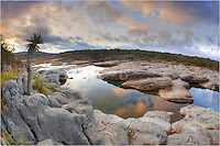 This photograph taken at Pedernales Falls State park offers a 180 degree view of the River as it flows through this small waterway in the Texas Hill country. The lens I used was a Canon 15mm fisheye.