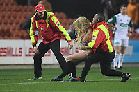 1st August 2020, Hamilton, New Zealand; A Streaker is removed from the field by stewards. Chiefs versus Crusaders, Super Rugby Aotearoa, FMG Waikato Stadium, Hamilton, New Zealand.