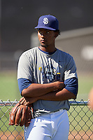 San Diego Padres pitcher Starlin Cordero (36) during an Instructional League camp day on October 4, 2016 at the Peoria Sports Complex in Peoria, Arizona.  (Mike Janes/Four Seam Images)