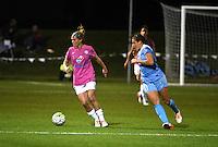 Kansas City, MO - Friday May 13, 2016: FC Kansas City midfielder Jen Buczkowski (6) against Chicago Red Stars forward Sofia Huerta (11) during a regular season National Women's Soccer League (NWSL) match at Swope Soccer Village. The match ended 0-0.