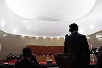 BRASÍLIA, DF, 04.04.2017 – JULGAMENTO-CHAPA DILMA/TEMER – O presidente do Tribunal Superior Eleitoral, ministro Gilmar Mendes durante o julgamento da Chapa Dilma/Temer no TSE em Brasília na manhã desta terça-feira, 04.(Foto: Ricardo Botelho/Brazil Photo Press)