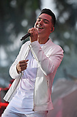 MIAMI FL - JULY 30: Luis Coronel performs at Bayfront Park Amphitheater on July 30, 2017 in Miami, Florida. Photo by Larry Marano © 2017