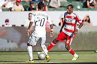 CARSON, California - August 26, 2012: The LA Galaxy defeated FC Dallas 2-0 during a Major League Soccer (MLS) game at Home Depot Center stadium.