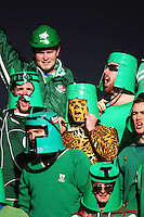 Manawatu bucketheads during the Air NZ Cup rugby match between Manawatu Turbos and Counties-Manukau Steelers at FMG Stadium, Palmerston North, New Zealand on Sunday, 2 August 2009. Photo: Dave Lintott / lintottphoto.co.nz
