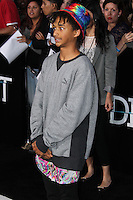 "WESTWOOD, LOS ANGELES, CA, USA - MARCH 18: Jaden Smith at the World Premiere Of Summit Entertainment's ""Divergent"" held at the Regency Bruin Theatre on March 18, 2014 in Westwood, Los Angeles, California, United States. (Photo by Xavier Collin/Celebrity Monitor)"