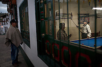 Dec. 21, 2011 - Mogui, Colombia. A pool hall. © Nicolas Axelrod / Ruom