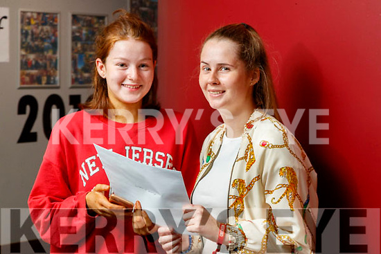 Doireann O'Mahony (Listowel) and Sophie Moriarty (Tralee), Brookfield College, Tralee, who received their Leaving Certificate results on Tuesday morning last.