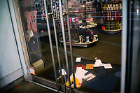 NEW YORK, NY - April 13:  Mail is seen at the floor of a local store that remains shuttered due to COVID-19 pandemic on April 13, 2020. in New York, United States. The global economy is facing the worst collapse since the WWII, while COVID-19  pandemic has now killed more than 22,000 people in the United States and at least 1,864,629 people died world wide. (Photo by Eduardo MunozAlvarez/VIEWpress)