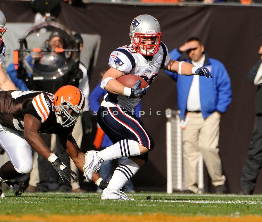 DANNY WOODHEAD, of the New England Patriots, in action during the Patriots game against the Cleveland Browns on November 7, 2010 at Cleveland Browns Stadium in Cleveland, Ohio.  ..The Browns beat the Patriots 34-14...