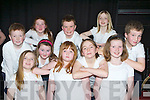 Listellick NS, Tralee pupils who sang at the Kerry Peace Proms in the INEC on Sunday front row l-r: Jessie Heaphy, Aoife MCCarthy, Aine Casey, Back row: Adam Butler, Rebecca Walsh, Laura O'Driscoll, Brendan Fitzmaurice, Mary O'Connell, Katie Murphy and Luke Stack..