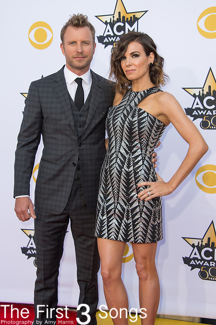 Dierks Bentley and Cassidy Black attend the 50th Academy Of Country Music Awards at AT&T Stadium on April 19, 2015 in Arlington, Texas.