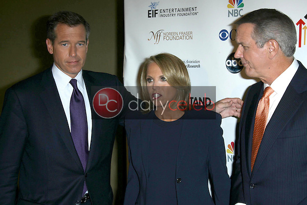 Brian Williams with Katie Couric and Charles Gibson<br />