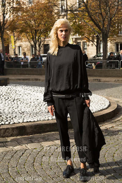 Aymeline Valade attend Miu Miu Show Front Row - Paris Fashion Week  2016.<br /> October 7, 2015 Paris, France<br /> Picture: Kristina Afanasyeva / Featureflash