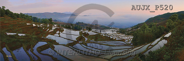 Dr. Xiong, LANDSCAPES, panoramic, photos, Sunrise over the Valley, Yunnan, China(AUJXP520,#L#)