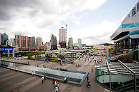 Lowu Commercial center in Shenzhen, China. It is a popular shopping center for locals and tourists alike at the Lowu border crossing between Shenzhen and Kong Kong..