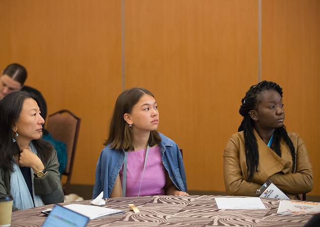27 June, 2018, Kuala Lumpur, Malaysia : Participants listening during the Modern Slavery and Child Labour seminar seminar on the third day at the Girls Not Brides Global Meeting 2018 at the Kuala Lumpur Convention Centre. Picture by Graham Crouch/Girls Not Brides