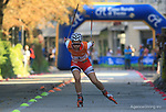 Julie Henriette ARNESEN in action at FIS Sprint Rollerski World Cup in Trento © Pierre Teyssot<br /> www.staminarollerski.com