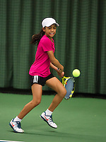 Rotterdam, The Netherlands, 07.03.2014. NOJK ,National Indoor Juniors Championships of 2014, 12and 16 years, Charlize Bernardus (NED)<br /> Photo:Tennisimages/Henk Koster