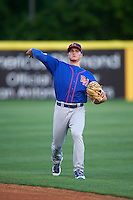 Midland RockHounds third baseman Matt Chapman (7) warms up before a game against the San Antonio Missions on April 21, 2016 at Nelson W. Wolff Municipal Stadium in San Antonio, Texas.  Midland defeated San Antonio 9-2.  (Mike Janes/Four Seam Images)