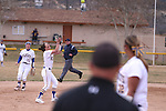 Western Nevada College Wildcats' Makaylee Jauss makes a play against College of Southern Idaho at Edmonds Sports Complex, in Carson City, Nev., on Friday, Feb. 27, 2015. CSI won the opener 11-2.<br /> Photo by Cathleen Allison/Nevada Photo Source