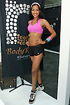 Model poses in a Body Rock Sport outfit during the CURVENY Designer Lingerie & Swim show, at the Jacob Javits Convention Center, August 3, 2010.