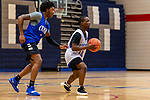 WATERBURY, CT. 05 December 2018-120518 - The 2018-2019 Crosby High School boys hoop team gets some team practices in before the start of the 2018-2019 season at Crosby High School in Waterbury on Wednesday. Bill Shettle Republican-American