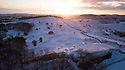 28/01/120<br /> <br /> Dawn breaks to reveal a snowy landscape over  Solomon's Temple, also known as Grinlow Tower, a Victorian folly built on moorland overlooking Buxton, Derbyshire.<br /> <br /> Rod Kirkpatrick holds a PfCO and had permission to fly drone.<br /> <br /> All Rights Reserved: F Stop Press Ltd.  <br /> +44 (0)7765 242650 www.fstoppress.com