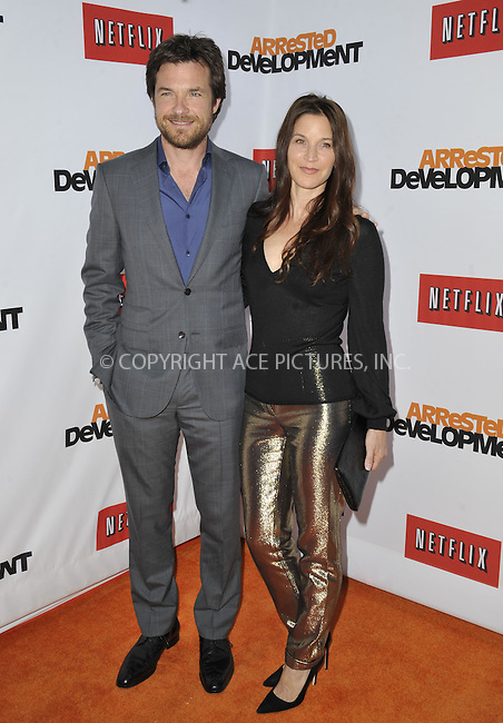 WWW.ACEPIXS.COM....April 29 2013, LA....Jason Bateman and Amanda Anka arriving at the Netflix's Los Angeles Premiere Of 'Arrested Development' Season 4 at TCL Chinese Theatre on April 29, 2013 in Hollywood, California.......By Line: Peter West/ACE Pictures......ACE Pictures, Inc...tel: 646 769 0430..Email: info@acepixs.com..www.acepixs.com