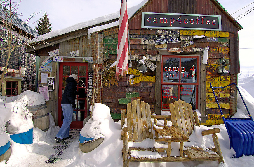 Camp 4 Coffee in Crested Butte, CO.  © Michael Brands.