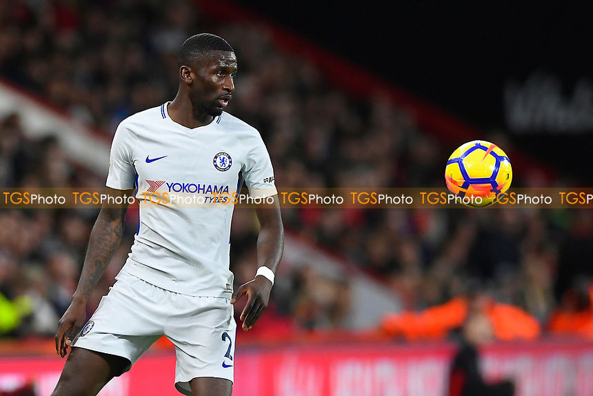 Antonio Rudiger of Chelsea during AFC Bournemouth vs Chelsea, Premier League Football at the Vitality Stadium on 28th October 2017
