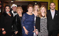 NWA Democrat-Gazette/CARIN SCHOPPMEYER Margarita Felic and Al Lopez (from left), Karolyn Farrell, Kathleen Trotter, Ashley Cardiel and Anna Marie and Michael Jarrett help support ACO at Arts Arising.