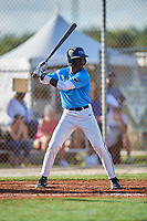 Kendall Pettis during the WWBA World Championship at the Roger Dean Complex on October 19, 2018 in Jupiter, Florida.  Kendall Pettis is an outfielder from Chicago, Illinois who attends Brother Rice High School and is committed to Oklahoma.  (Mike Janes/Four Seam Images)