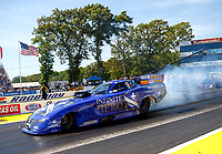 Jun 11, 2017; Englishtown , NJ, USA; NHRA funny car driver Jack Beckman during the Summernationals at Old Bridge Township Raceway Park. Mandatory Credit: Mark J. Rebilas-USA TODAY Sports