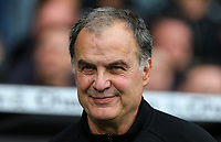 Leeds United manager Marcelo Bielsa<br /> <br /> Photographer Alex Dodd/CameraSport<br /> <br /> The EFL Sky Bet Championship Play-off  First Leg - Derby County v Leeds United - Thursday 9th May 2019 - Pride Park - Derby<br /> <br /> World Copyright © 2019 CameraSport. All rights reserved. 43 Linden Ave. Countesthorpe. Leicester. England. LE8 5PG - Tel: +44 (0) 116 277 4147 - admin@camerasport.com - www.camerasport.com