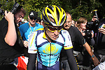 Lance Armstrong (USA) Astana heads to the start of Stage1 of the 2009 Tour of Ireland, running 196km from the Ritz-Carlton Hotel Powerscourt, Enniskerry to Waterford, Ireland. 21st August 2009.<br /> (Photo by Eoin Clarke/NEWSFILE)