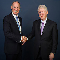 VISA President John Partridge and Former U.S. President Bill Clinton