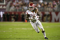 Hawgs Illustrated/BEN GOFF <br /> Brandon Martin, Arkansas wide receiver, runs the ball after a catch in the second quarter against Alabama Saturday, Oct. 14, 2017, at Bryant-Denny Stadium in Tuscaloosa, Ala.