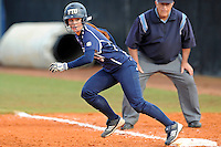 11 February 2012:  FIU's Beth Peller (9) runs to second as the University of Massachusetts Minutewomen defeated the FIU Golden Panthers, 3-1, as part of the COMBAT Classic Tournament at the FIU Softball Complex in Miami, Florida.