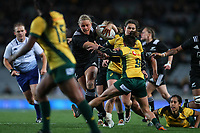 Chelsea Alley in action during the Laurie O'Reilly Memorial Trophy international women's rugby match between the New Zealand Black Ferns and Australia Wallaroos at Eden Park in Auckland, New Zealand on Saturday 25 August 2018. Photo: Simon Watts / lintottphoto.co.nz