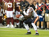Chicago Bears running back Tarik Cohen (29) fields a punt in the first quarter against the Washington Redskins at FedEx Field in Landover, Maryland on Monday, September 23, 2019.<br /> Credit: Ron Sachs / CNP