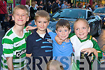 Aidan, Kieran McClarance, Dylan McCarthy and Jordon McClarance admiring the fantastic cars when the Cannonball Run arrived in Killarney on Friday evening ..