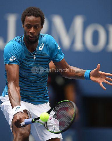FLUSHING NY- AUGUST 31: Gael Monfils Vs Jan Satral on Arthur Ashe Stadium at the USTA Billie Jean King National Tennis Center on August 31, 2016 in Flushing, Queens. Credit: mpi04/MediaPunch