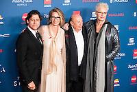 Javier Alberni, Paola Dominguin, Francis Montesinos and Lucia Dominguin attends to the photocall of the Gala Sida at Palacio de Cibeles in Madrid. November 21, 2016. (ALTERPHOTOS/Borja B.Hojas) //NORTEPHOTO.COM