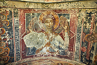 Picture & image the interior medieval frescoes of Khobi Georgian Orthodox Cathedral, 13th century,  Khobi Monastery, Khobi, Georgia.