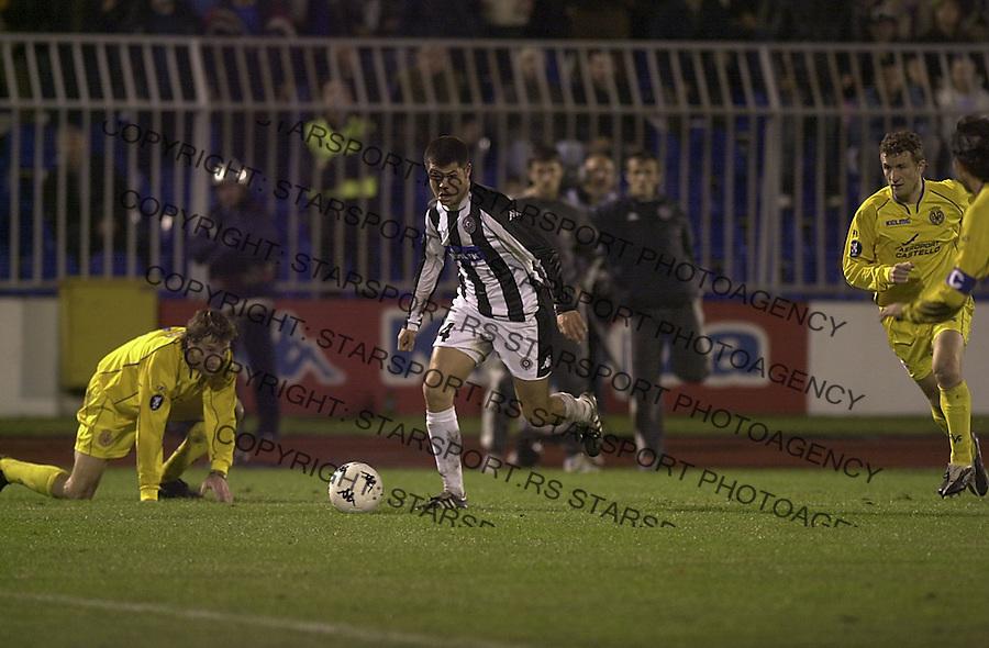 SPORT FUDBAL PARTIZAN VILLARREAL VILJAREAL UEFA LIGA 2.12.2004. foto: Pedja Milosavljevic