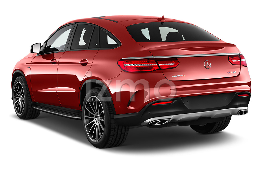 Car pictures of rear three quarter view of 2017 Mercedes Benz GLE-Coupe AMG-43 2 Door SUV Angular Rear