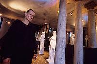 Europe/France/Alsace/67/Bas-Rhin/La Petite-Pierre : Cleone créatrice de mode dans sa maison [Non destiné à un usage publicitaire - Not intended for an advertising use]