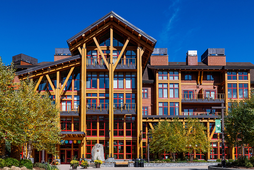 The Lodge at Spruce Peak ski resort.