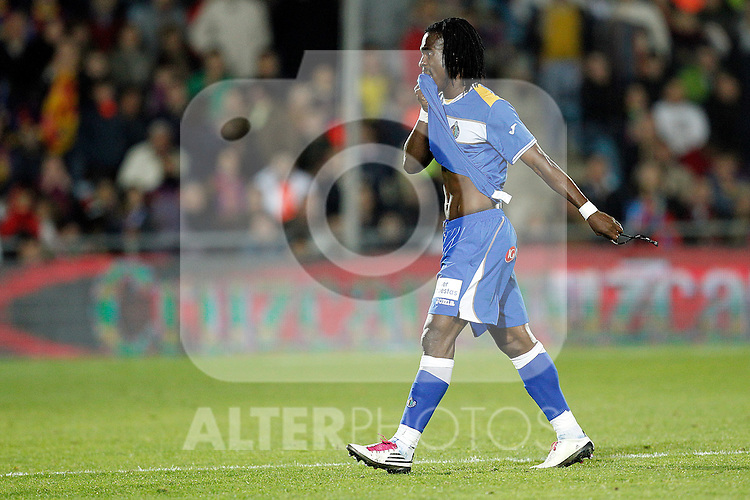 GETAFE, Madrid (07/11/2010).- Spanish League match Getafe vs Barcelona. Getafe's Derek Owusu Boateng...Photo: Cesar Cebolla / ALFAQUI